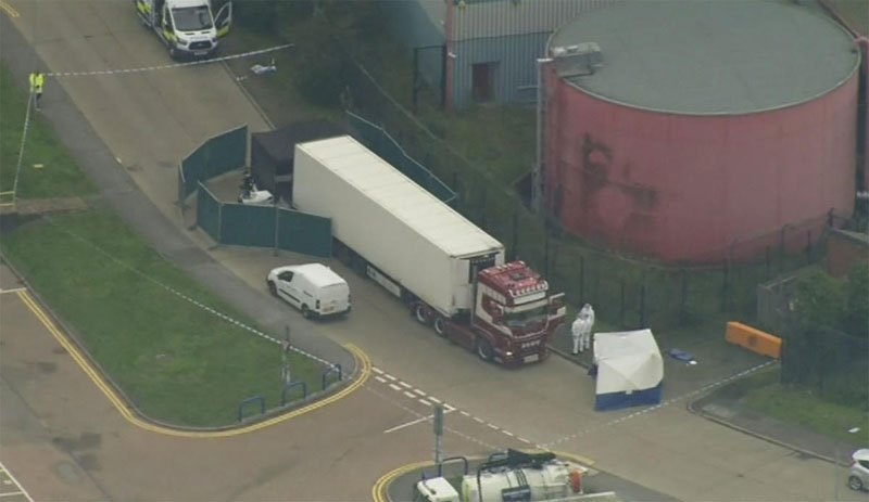 39 people were found dead Wednesday inside a truck container