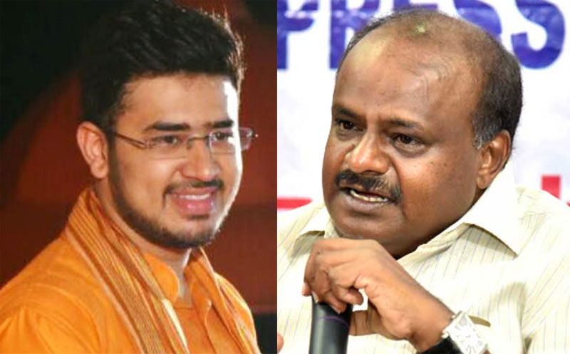 tejasvi surya and HD Kumaraswamy