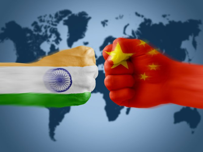 India China troops face off