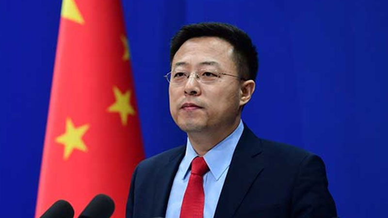 China Foreign Ministry spokesperson Zhao Lijian