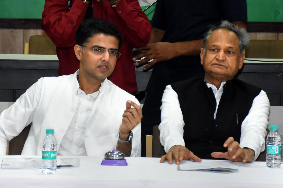 Sachin pilot and Ashok gehlot