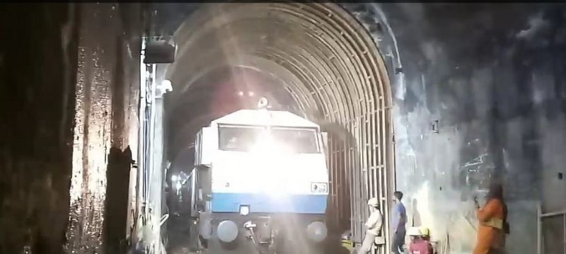 Train in tunnel Konkan railway