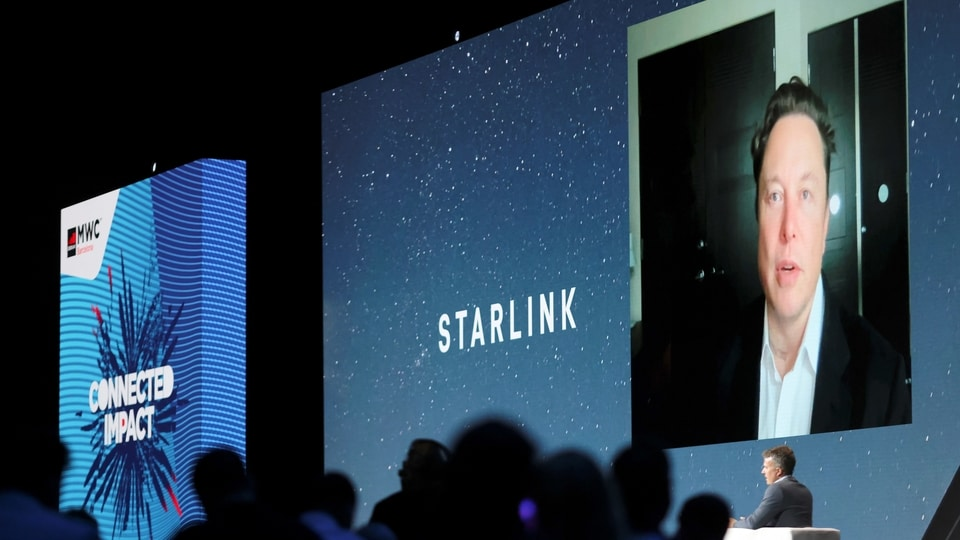 SpaceX founder and Tesla CEO Elon Musk speaks on a screen during the Mobile World Congress (MWC) in Barcelona, Spain, June 29, 2021. (REUTERS)